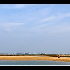 Wells Beach and lifeboat station by Gordon Holmes