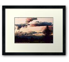 Big Mountain Evening Framed Print