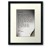 The Emotional Letter Framed Print