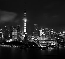 Shanghai Skyline by Peter Freier