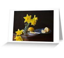 Daffodils and Lemons Greeting Card
