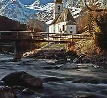 Ramsau Chapel, December 1985 by David J Dionne