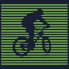 Cyclist - green-lined bike by JRon