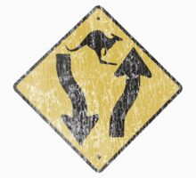 Kangaroo Sign - Urban Grunge by Denis Marsili - DDTK