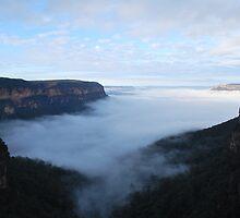 King's in the mist.   by Warren  Patten