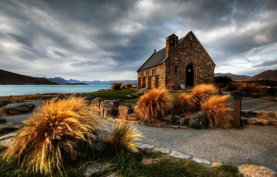 Church of the Good Shepherd, Lake Tekapo by Bluesoul Photography