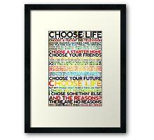 Choose Trainspotting Framed Print