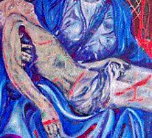 Pieta after michelangelo very blue by barbzart2011