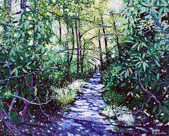 'The Glen Burney Trail' (Blowing Rock, NC) by Jerry Kirk