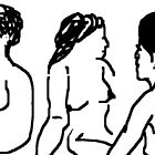 3 x female nude studies -(070311)- mouse drawn/ms paint by paulramnora