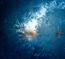 Ice on a window by neatfoto