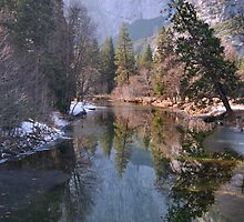 Yosemite Winter Reflections by Stephen Vecchiotti