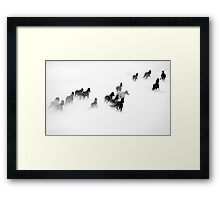 After the Blizzard 2 B&W Framed Print
