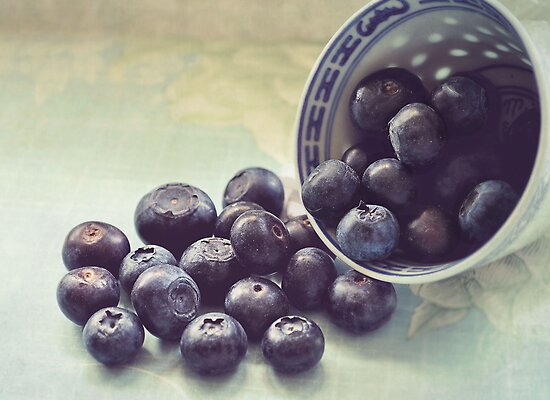 blueberries.. by Michelle McMahon