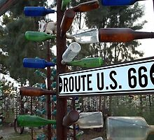 Bottle Trees Along Route 66 by Glenn McCarthy