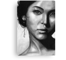 Song Hye Kyo Black and white Canvas Print