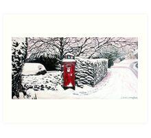 The Red Post Box  Art Print