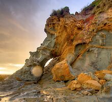 Elephant rock Kilcunda beach by Philip Greenwood