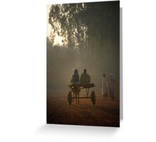 Early morning commuters in Bahir Dah Greeting Card