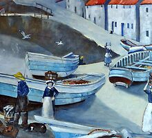 Old Staithes by Sue Nichol