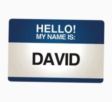 NAMETAG TEES - DAVID by webart