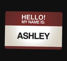 NAMETAG TEES - ASHLEY by webart