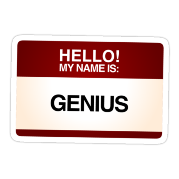 NAMETAG TEES - GENIUS RED by webart