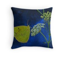 Butterfly and Milkweed Throw Pillow