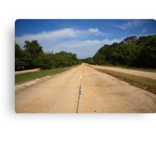 Route 66 - Missouri Concrete Highway Canvas Print
