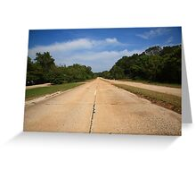 Route 66 - Missouri Concrete Highway Greeting Card