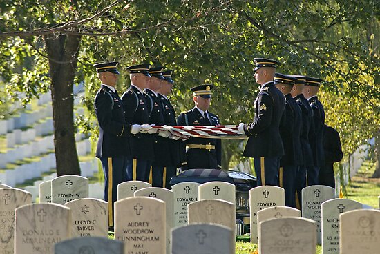 The Final Honors - Arlington Nat'l Cemetery - #0141 by ©  Paul W. Faust
