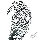 Raven Totem by elliotjanvier