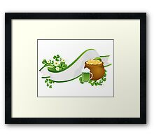 St. Patrick's Day ribbon Framed Print