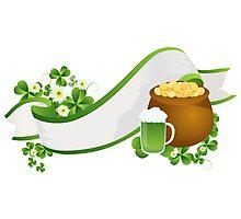 St. Patrick's Day ribbon Photographic Print