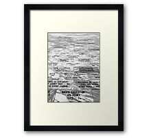 Memorial to Fallen Soldiers Framed Print