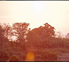 'Mekong Sunset: Jungle.' Don Det, Laos by RyanEdwardson
