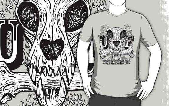 UNDERDOG skull & bone UF, light tee by Underdogg