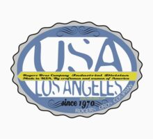 usa los angeles sticker by rogers bros co by usastickers
