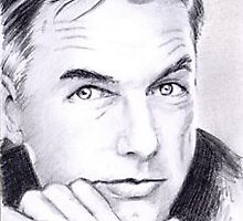 Mark Harmon mini portrait by wu-wei