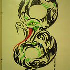 snake tattoo by fernandozart