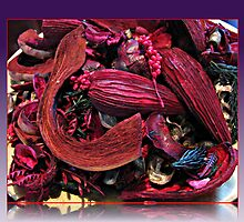 Colour Me Crimson! Pot Pourri in Reflection Frame. by BlueMoonRose