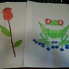 Frog & Flower by CreativeKitty