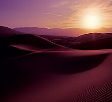 Sunset over the dunes in Death Valley by ©  Paul W. Faust