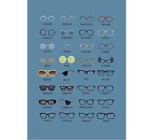 Glasses - Blue Background Photographic Print