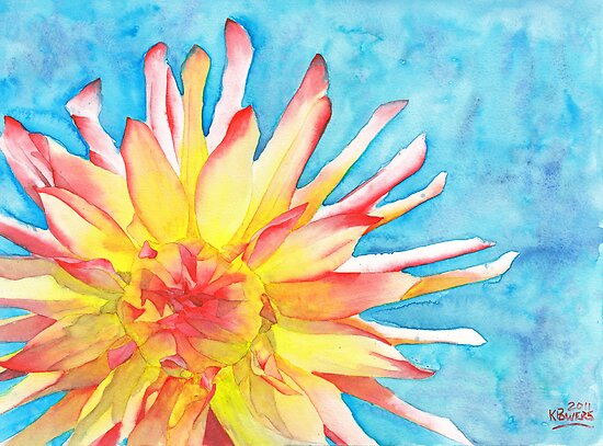Tie-Dye Dahlia by Ken Powers