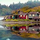 """Shack Island"", Nanaimo,BC,Van Is, Canada  by Heather Wade"