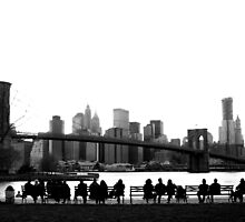 Brooklyn Bridge Admirers by tomduggan