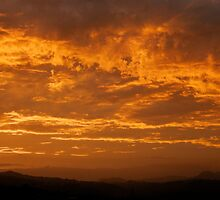 Sunset over Border Ranges by Barbara Dobinson