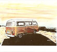Beach Bus by Sharon Poulton