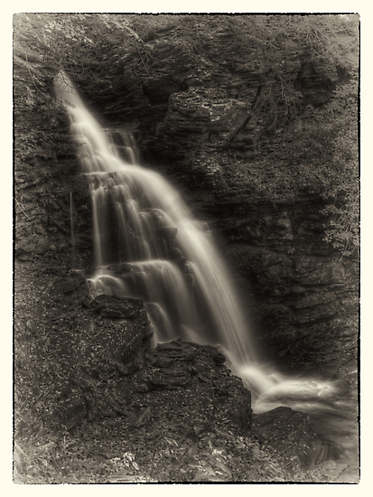 Ozone Falls (faux vintage) by Aaron Campbell